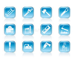 Download Woodworking Industry And Tools Icon Stock Vector