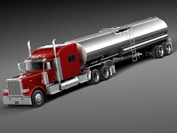 100 Truck Sleeper Cab Peterbilt 389 Tanker 2015 3D Model