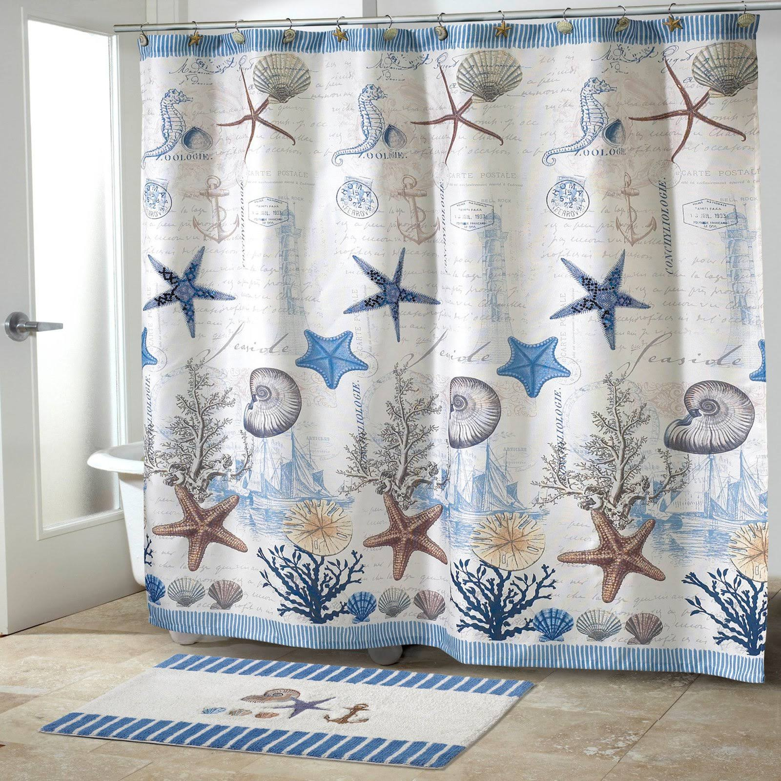 "Avanti Antigua Shower Curtain - Seaside Coral, 70""x72"""
