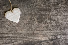 White Wooden Heart On Rustic Table