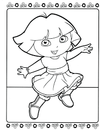 Dora The Explorer Coloring Pages Online Free Printable Dancing Page Download Colouring To Print Full