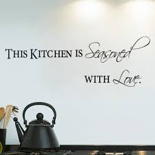 Aliexpress Buy Hot Sale Kitchen With Love Home Decor Wall Stickers For Door Black Quote Words Decorative Decals Art Diy Mural From
