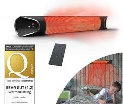 livington instant heater infrarot heizstrahler 2000 watt infrarot heizung für innen außenbereich 4 heizstufen fernbedienung