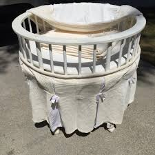 Round Bassinet Bedding by Find More Gorgeous Baby Circle Bassinet On Wheels For Easy Moving