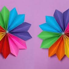 How To Make Easy Flower With Color Paper