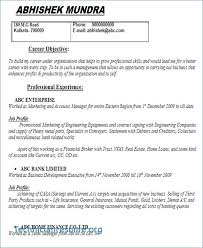 Work Experience Resume From High School Student With No Template