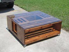 DIY Wine Fruit Wood Crate Coffee Table Free Plan Glass Top
