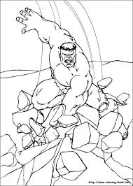 Hulk Coloring Pages On Book For Color