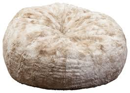 Furry Bean Bag Chair Rosella 3 Foot Fur Contemporary Chairs
