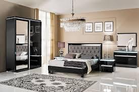 chambre adulte noir chambre à coucher complète noir laqué design deborah chambre