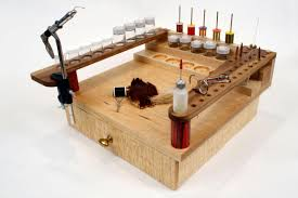 Fly Tying Table Woodworking Plans by Fly Tying Bench With Drawer 200 00 Via Etsy So Marty And I Can