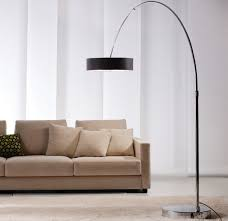 light modern arc floor ls black shades sleek styles