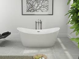 freistehende badewanne odessa ovale acryl wanne optional mit freistehender armatur für bad innen