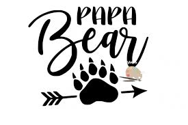 Papa Bear Svg Claw Arrow Png Jpg Diy Daddy