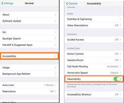 How to use or disable Turn off Reachability in iPhone 6 6