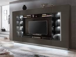 tv möbel tv wand mit stauraum led beleuchtung anthrazit