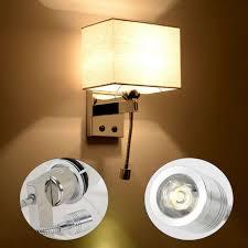 110v 3 4w wandle leseleuchte nachttischle led schlafzimmer wandleuchte