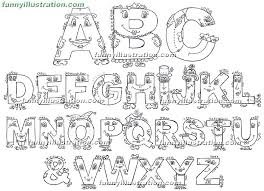 Easy English Alphabet Letters Kids Abc Learning Coloring Pages