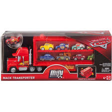 Disney/Pixar Cars Mini Racers Mack Transporter Vehicle - Walmart.com