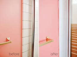 a bathroom tile makeover with paint ramshackle glam