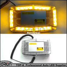 Car 12V 24 LED Amber Emergency Flashing Truck LED Top Roof Bar ...