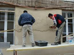 pour mur exterieur enduit finition écrasée pour façades mur extérieur muret