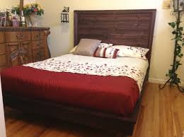 Ana White Headboard Diy by Ana White Hailey Planked Headboard And Platform Bed Diy Projects