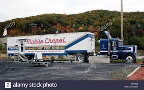 Mobile Chapel Church In A Truck At A Rest Stop In Upstate New York ...