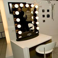 light bulb vanity mirror with light bulbs around it makeup it