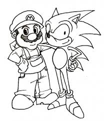 Pages To Print Sonic And Mario Coloring Ideas Within Free