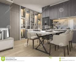 100 Modern Luxury Design 3d Rendering White And Kitchen With Dining