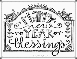 Christian Happy New Year Coloring Pages With