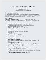 Sample Resume For Registered Nurse Outstanding Nursing Resumes Experienced Nurses Best Rn
