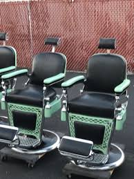 Emil J Paidar Barber Chair Headrest by Mercantile Trades And Factories Barber Chairs For Sale