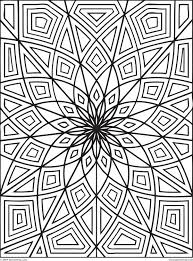 Cool Pattern Coloring Pages Geometric Free Breadedcat Image
