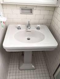 Pedestal Sink Mounting Bracket by Vintage American Standard White Porcelain Sink W Wall Mount