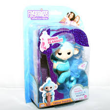 New Genuine Fingerlings Blue Glitter Baby Monkey By WowWee Name Amelia