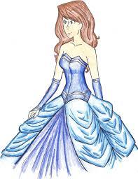 Blue Dress Design By Ara Bell