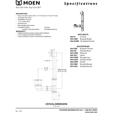 Tub Drain Assembly Diagram by Moen 90410bn Moen Brushed Nickel Tub Drains Tub U0026 Shower