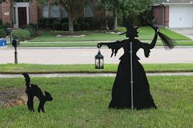 Halloween Witch Yard Stakes by Martha Stewart Witch And Cat Yard Silhouette Nicki Woo