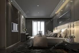 100 Modern Luxury Bedroom 3d Modern Luxury Modern Bedroom Suite In Hotel With Dark Style 3D Model