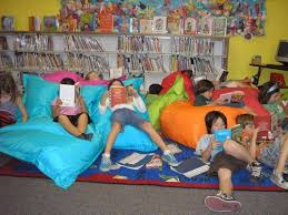 I Dont Know About You But These Kids Sprawled In Their Bean Bag Chairs Look Like They Are My Kind Of Heaven Children Who Read