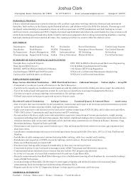Sample Resume Electrician Technician For Electrical Industrial