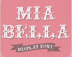 Romantic Font Mia Bella Hand Drawn Display Cute Hearts