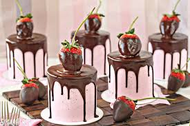Chocolate Covered Strawberry Cakes sweet mini chocolate cakes with fresh strawberry buttercream Beautiful