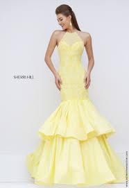 sherri hill yellow prom dress at ashley rene u0027s elkhart in 574 522