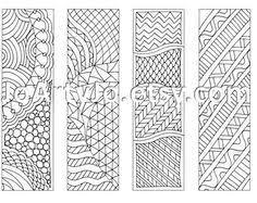 Zentangle Inspired Art Bookmarks DIY Printable Por JoArtyJo En Etsy