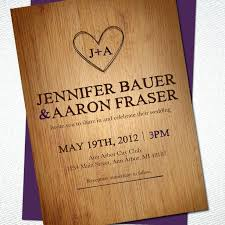 Rustic Wedding Invitation Kits Wooden Purple Invitations Barn