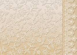 Cream Floral Lace With And Pearls Border