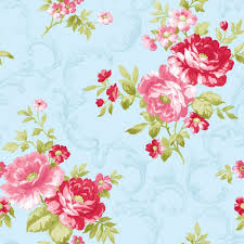 Blue Pink 31171 Rose Shabby Chic Floral Colemans Wallpaper 1000x1000